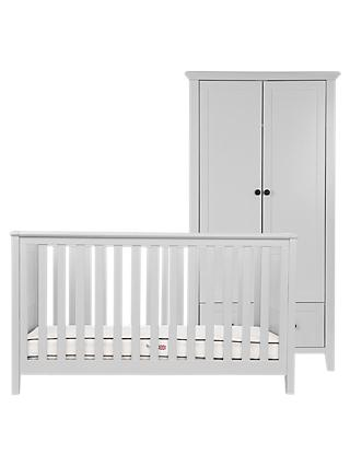 Silver Cross Nostalgia Cotbed and Wardrobe, Dove Grey