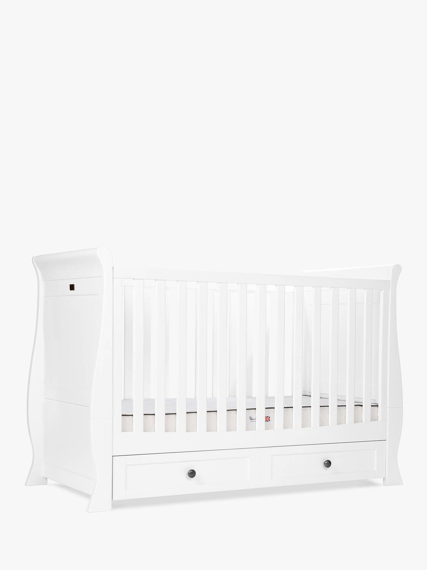 Buy Silver Cross Nostalgia Sleigh Cotbed, Dresser and Wardrobe, White Online at johnlewis.com