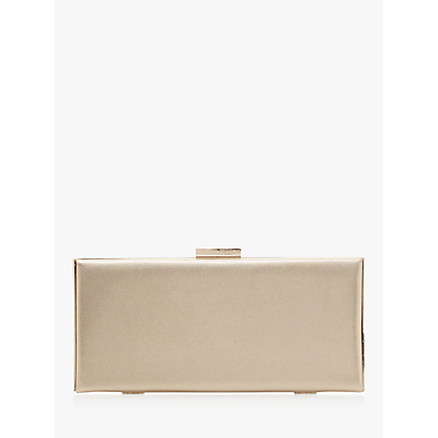 Dune Barbe Leather Clasp Clutch Bag