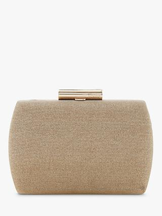 Dune Brights Clutch Bag Gold Leather