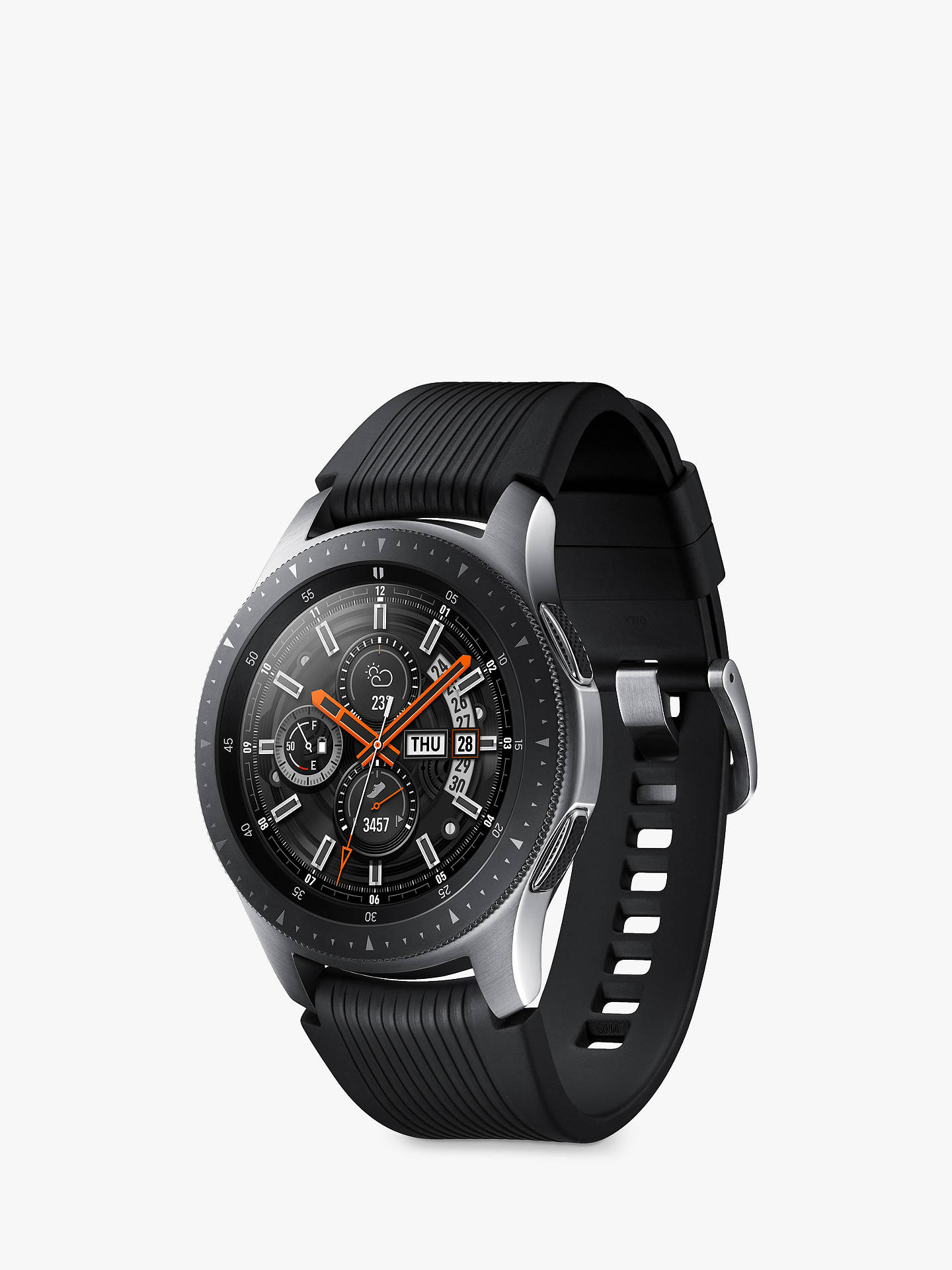 e5852095b ... Buy Samsung Galaxy Watch, 46mm, Silver / Black Online at johnlewis.com  ...