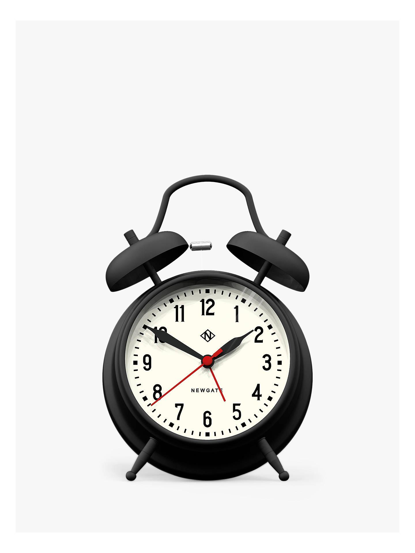 Newgate Charlie Twin Bell Alarm Clock, Black