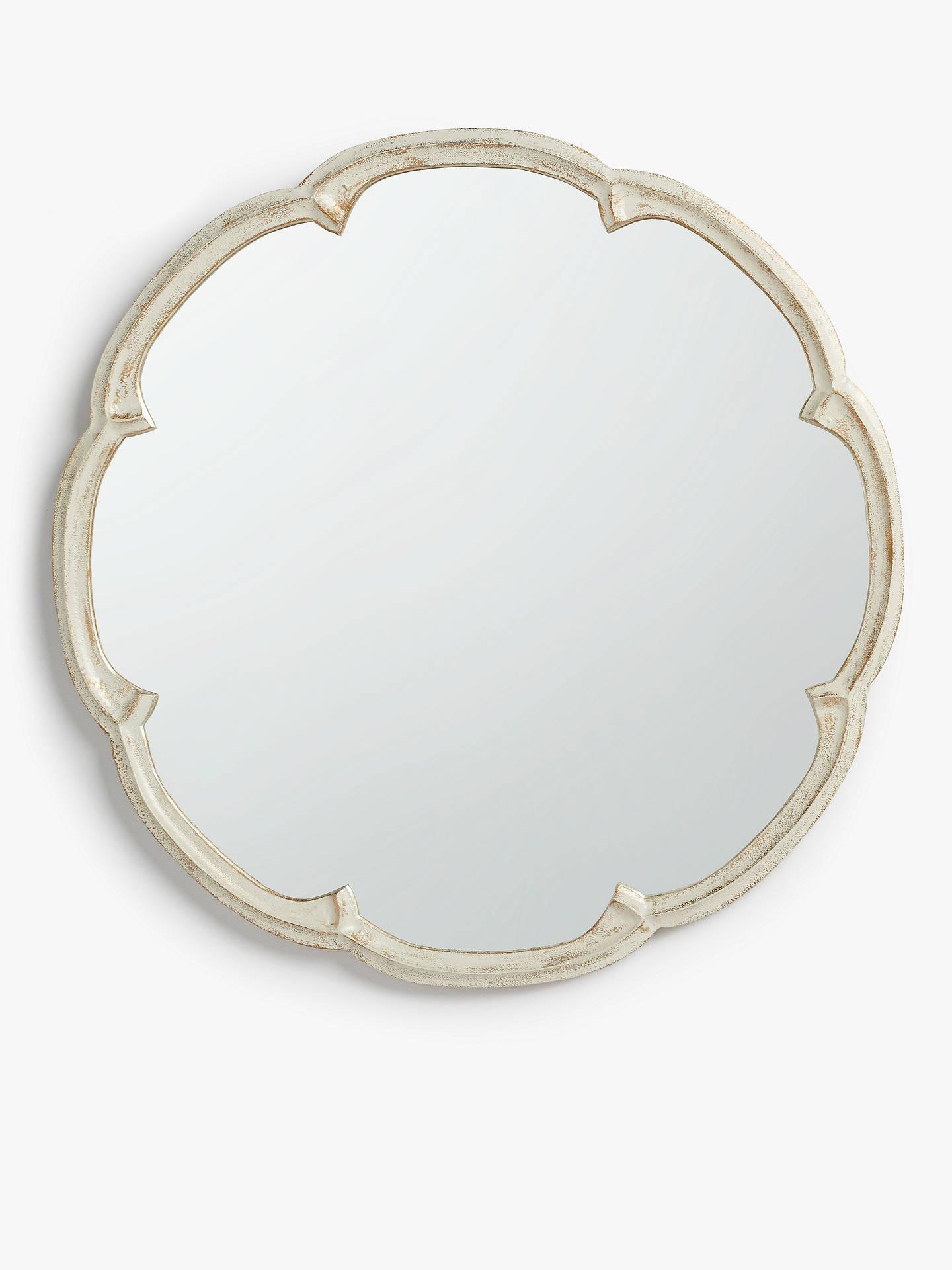 John Lewis & Partners Annabel Cast Decorative Mirror, Dia.60cm, Cream by John Lewis & Partners