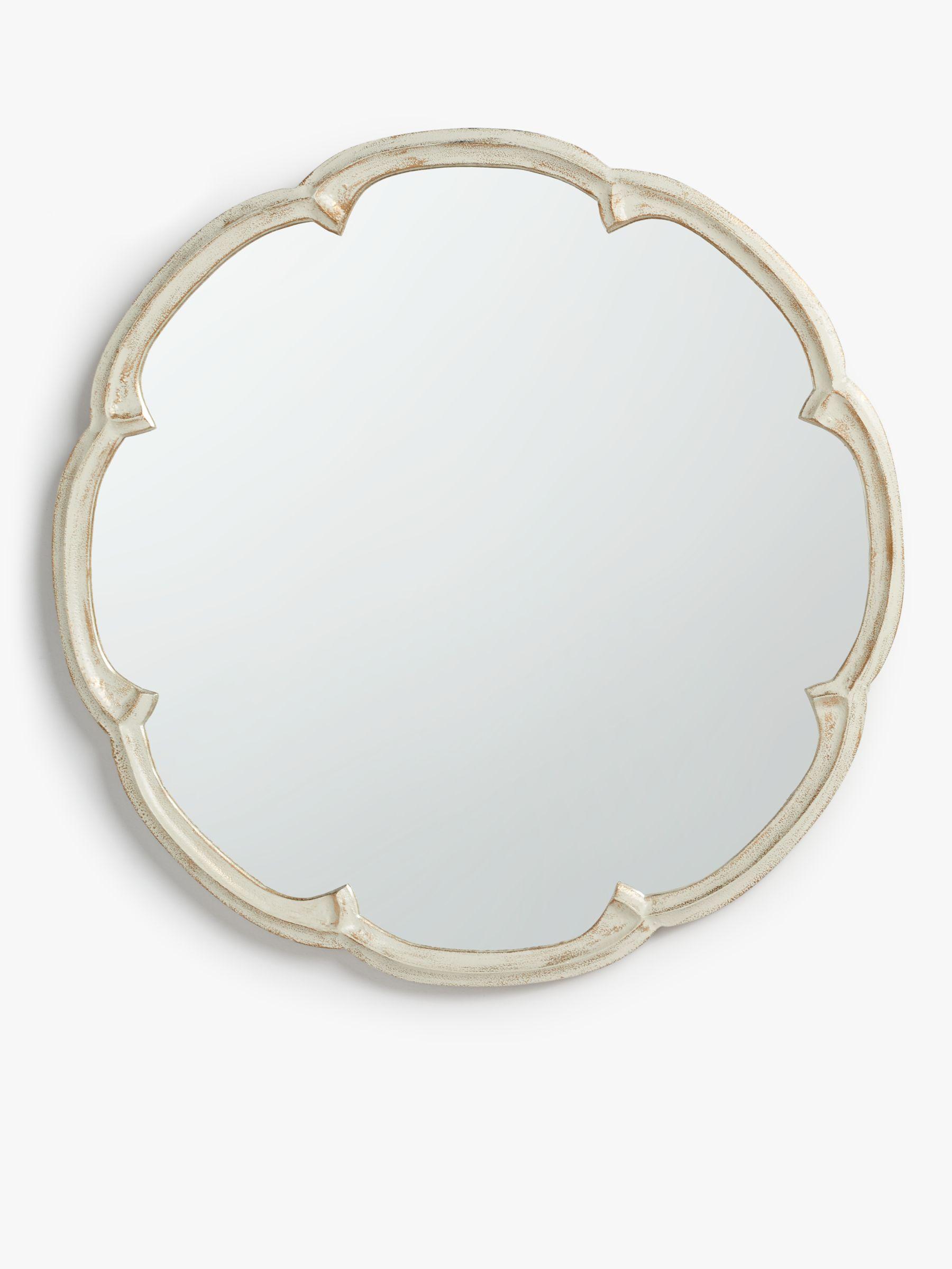 John Lewis Partners Annabel Cast Decorative Mirror Dia 60cm Cream