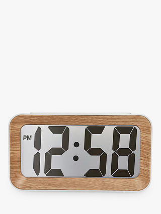 Buy Acctim Larsen Smartlite® LCD Alarm Clock, Oak Online at johnlewis.com