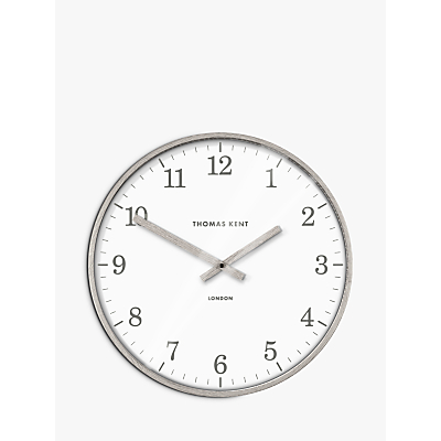 Thomas Kent Aaron Wall Clock, Grey, 40cm