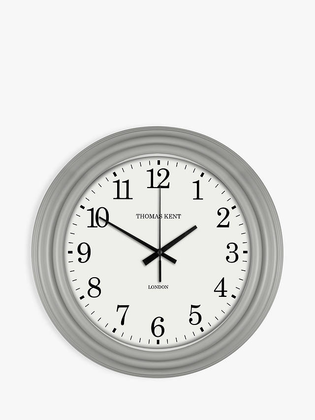 Buy Thomas Kent Laura Clock, Grey, 35cm Online at johnlewis.com
