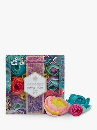 Heathcote & Ivory Salsa Silk Bathing Flowers Bath and Body Set