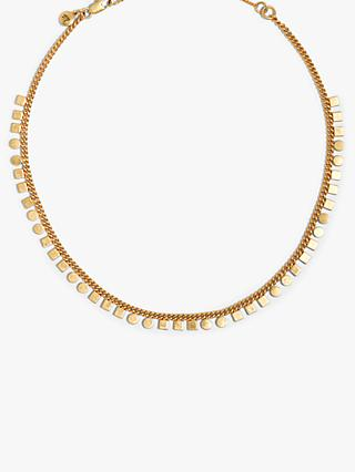 Madewell Mini Geometric Chain Choker Necklace, Gold