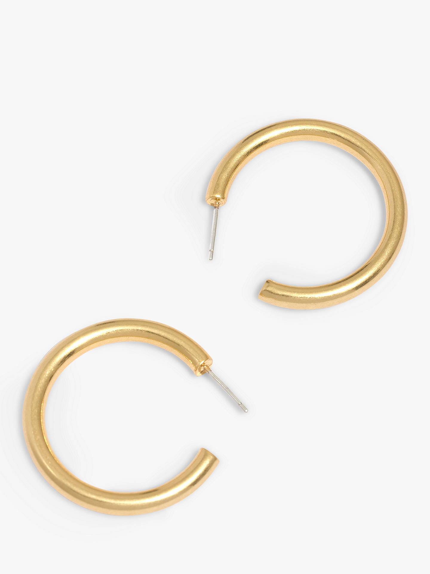 59d18ccf016e7a Buy Madewell Medium Chunky Hoop Earrings, Vintage Gold Online at  johnlewis.com
