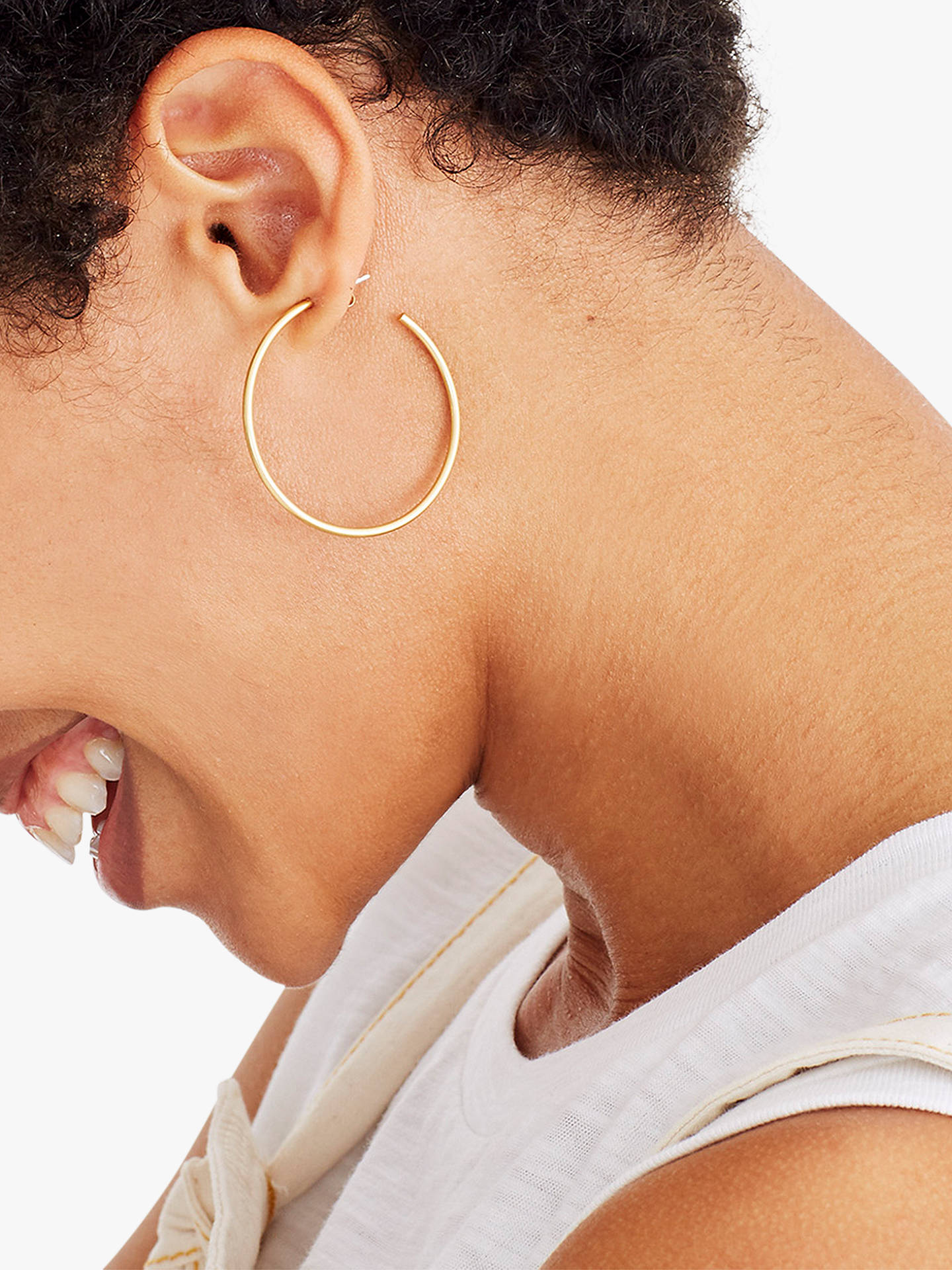 Madewell Medium Hoop Earrings Gold Online At Johnlewis