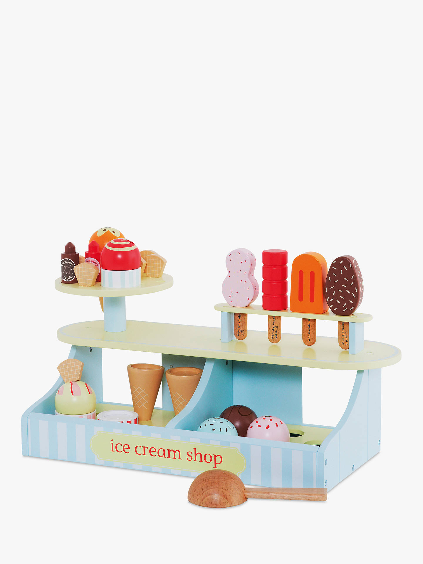 great little trading co lolly & scoop ice cream shop set wooden toy