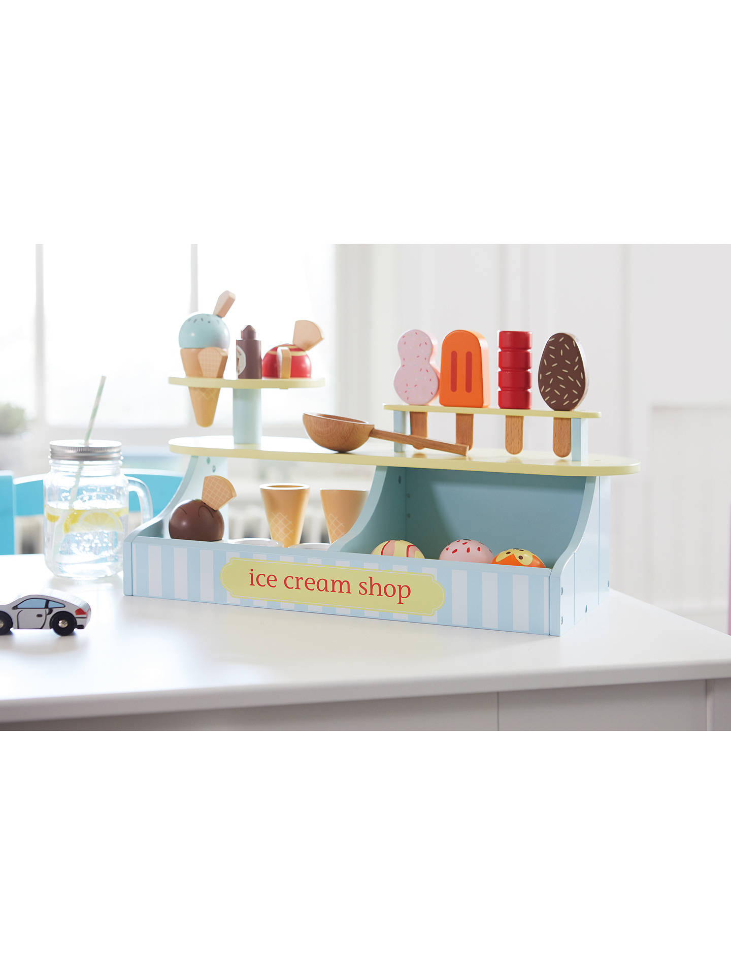 BuyGreat Little Trading Co Lolly & Scoop Ice Cream Shop Set Wooden Toy Online at johnlewis.com