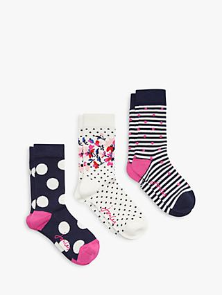 4ca8a304900 Joules Brill Bamboo Multi Print Ankle Socks