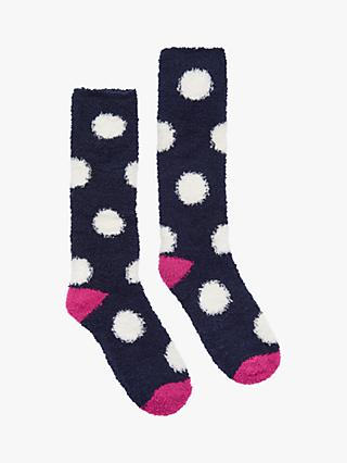 89d2a3e2444 Joules Fabulously Fluffy Spotted Fleece Socks