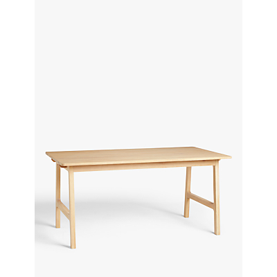 John Lewis & Partners Santino 8-10 Seater Extending Dining Table, Solid Oak