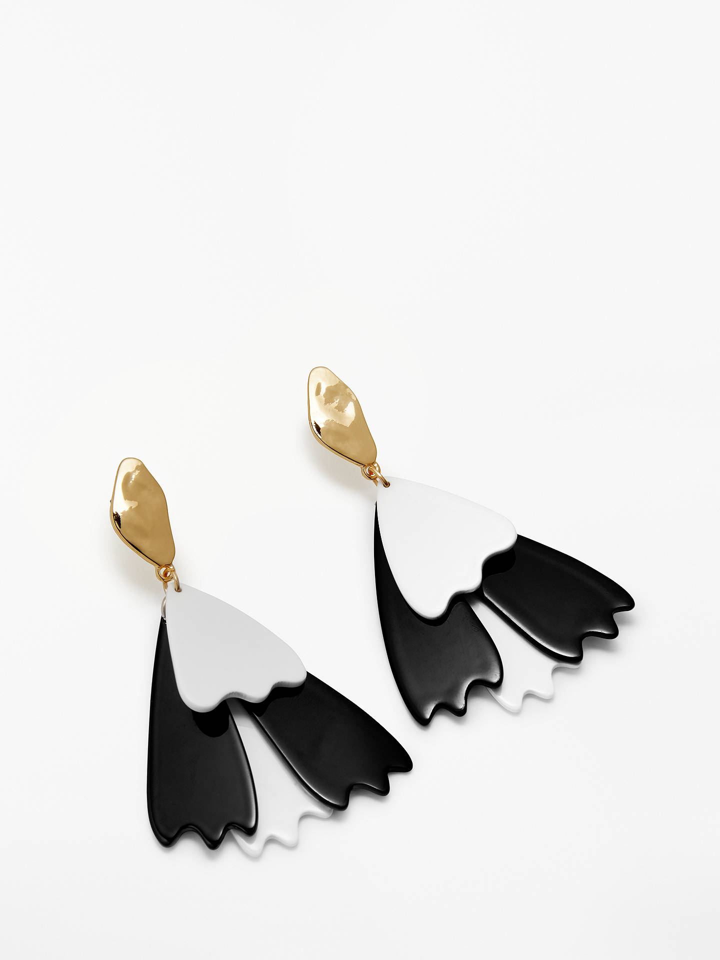 BuyJohn Lewis & Partners Statement Drop Earring, Black/White Online at johnlewis.com