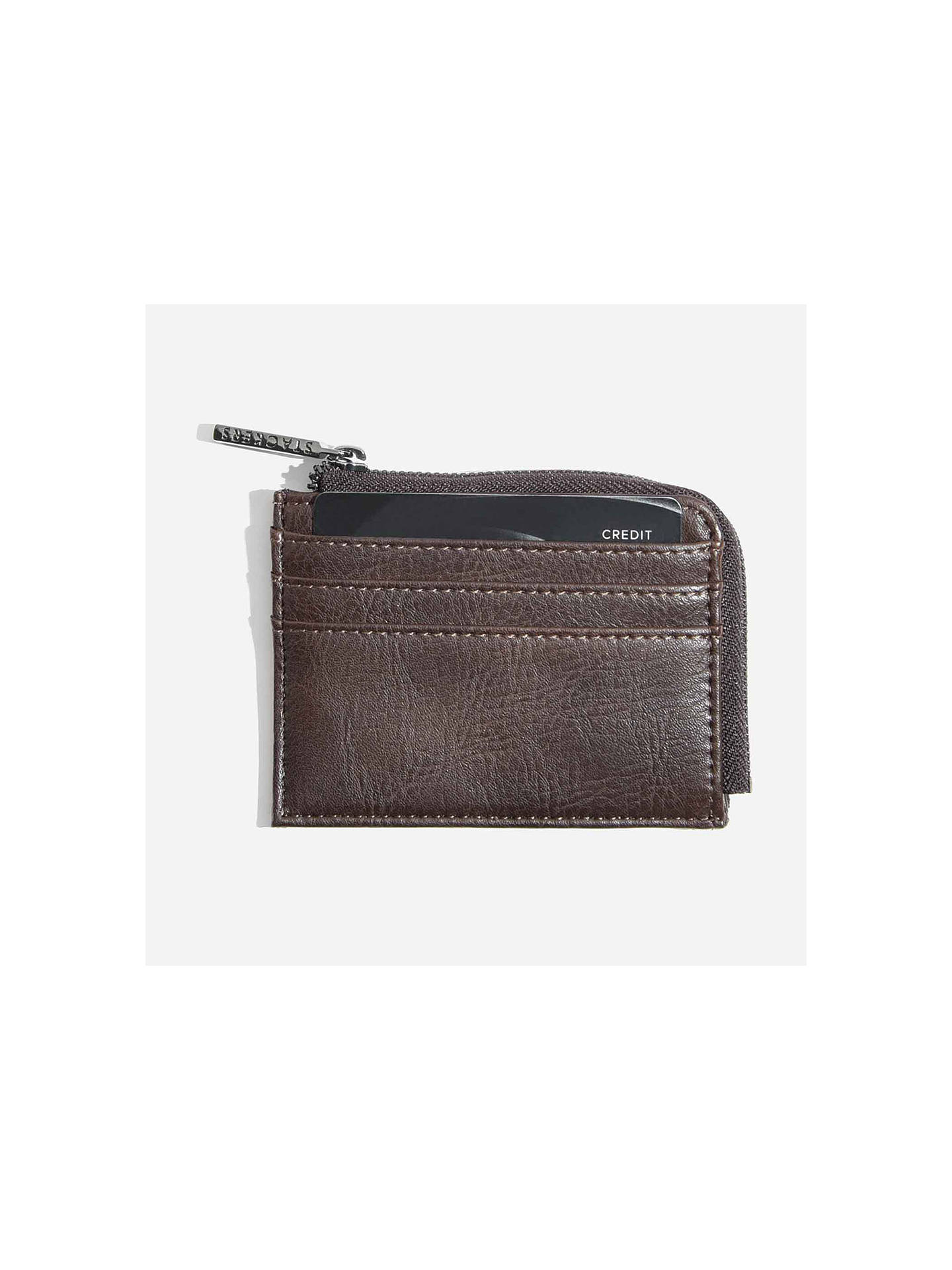 BuyStackers Zipped ID Case, Brown Online at johnlewis.com