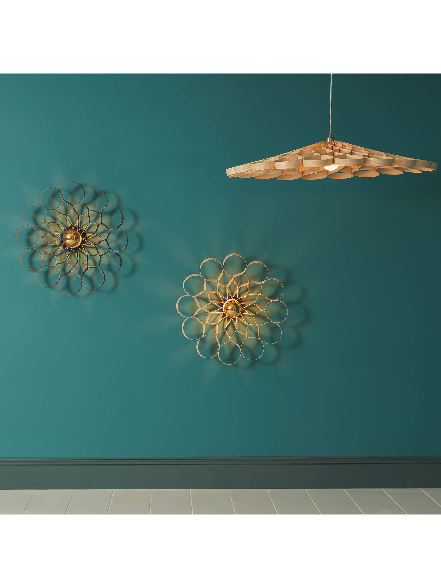 BuyTom Raffield Arame Wall Light, Ash Online at johnlewis.com