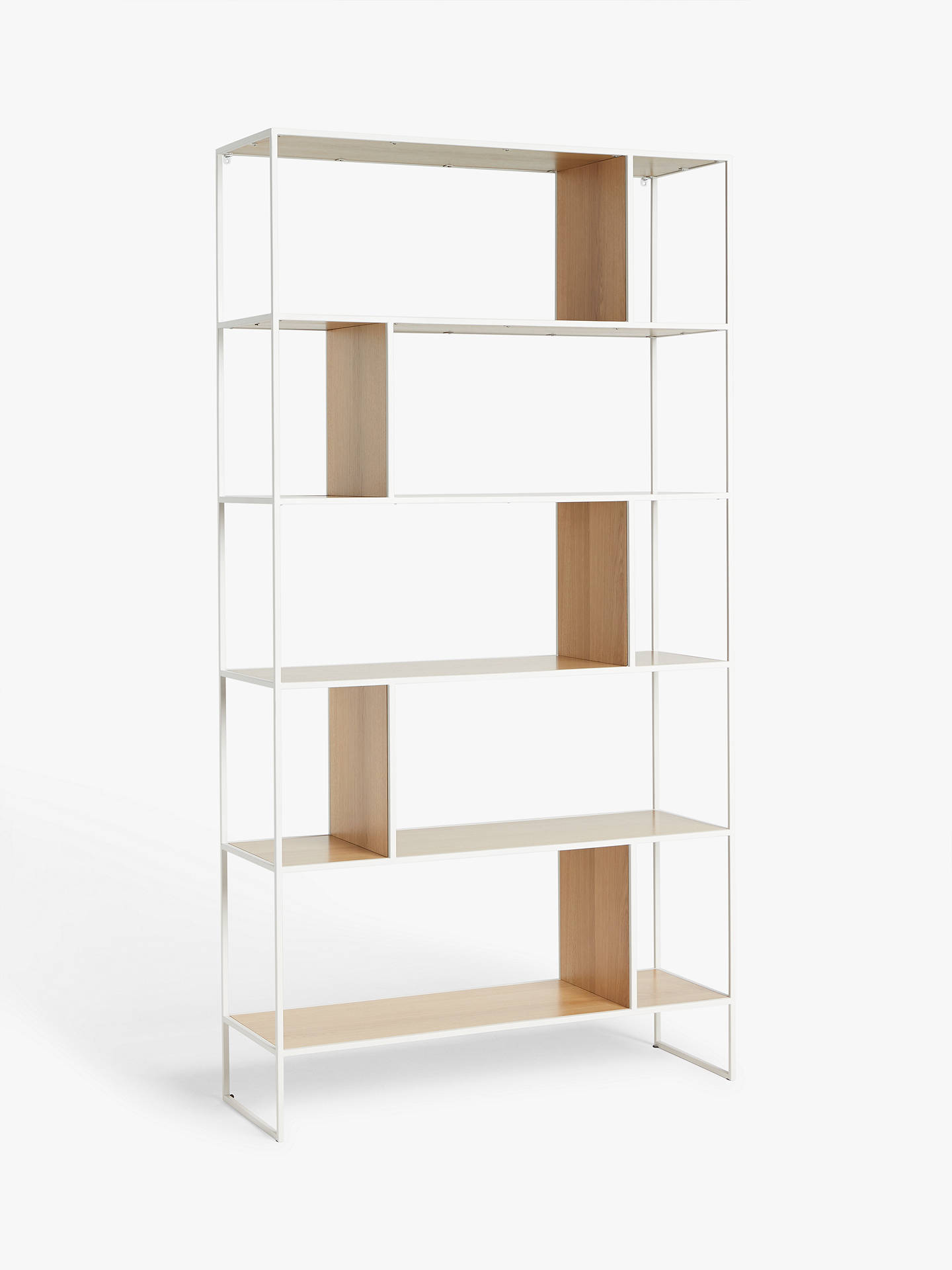 77d8dc6f6c70 Buy House by John Lewis Dice Shelving Unit Bookcase, Oak/Grey Online at  johnlewis ...