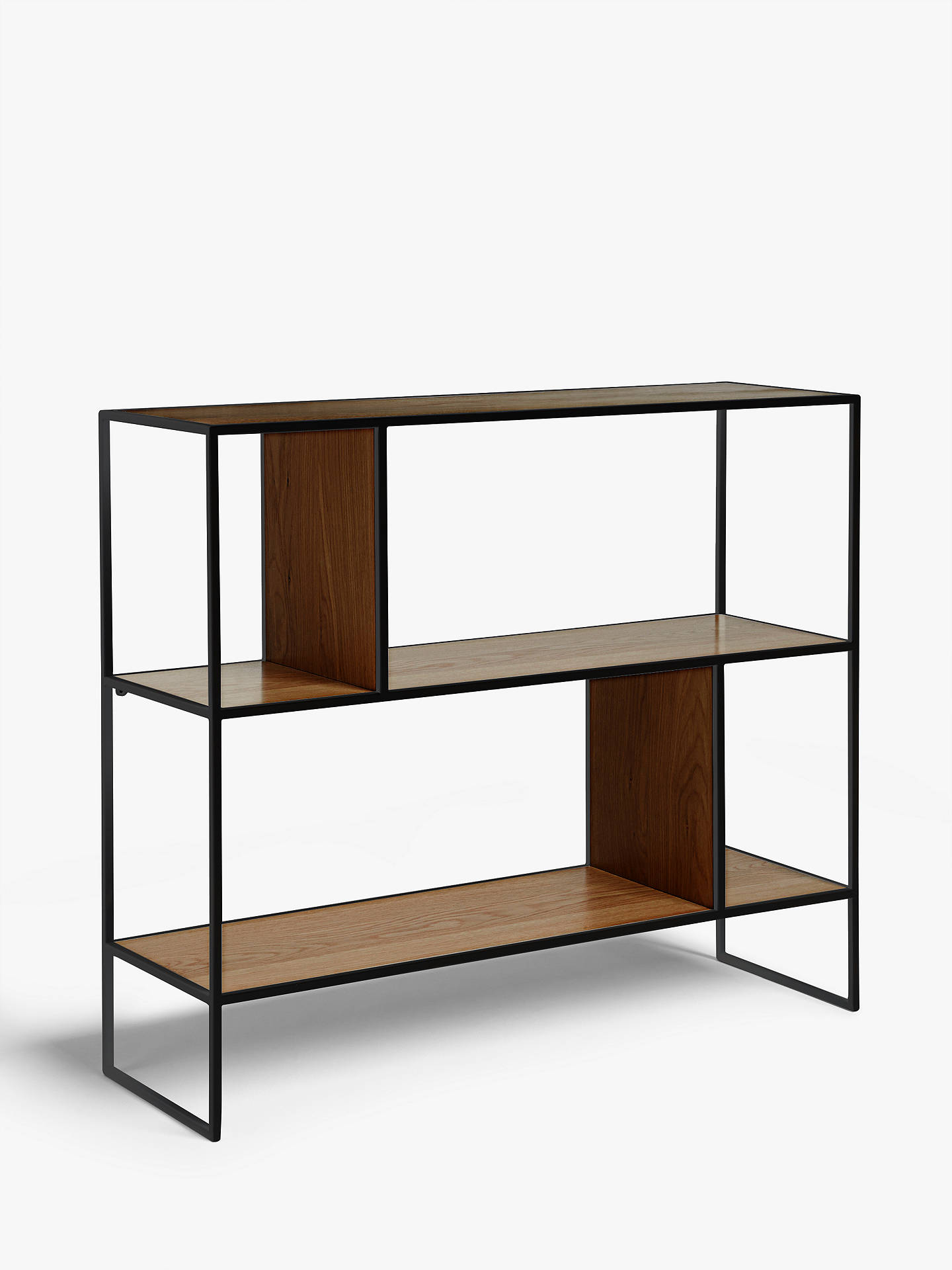 5b5aba6eead3 Buy House by John Lewis Dice Shelving Unit, Walnut/Black Online at johnlewis .