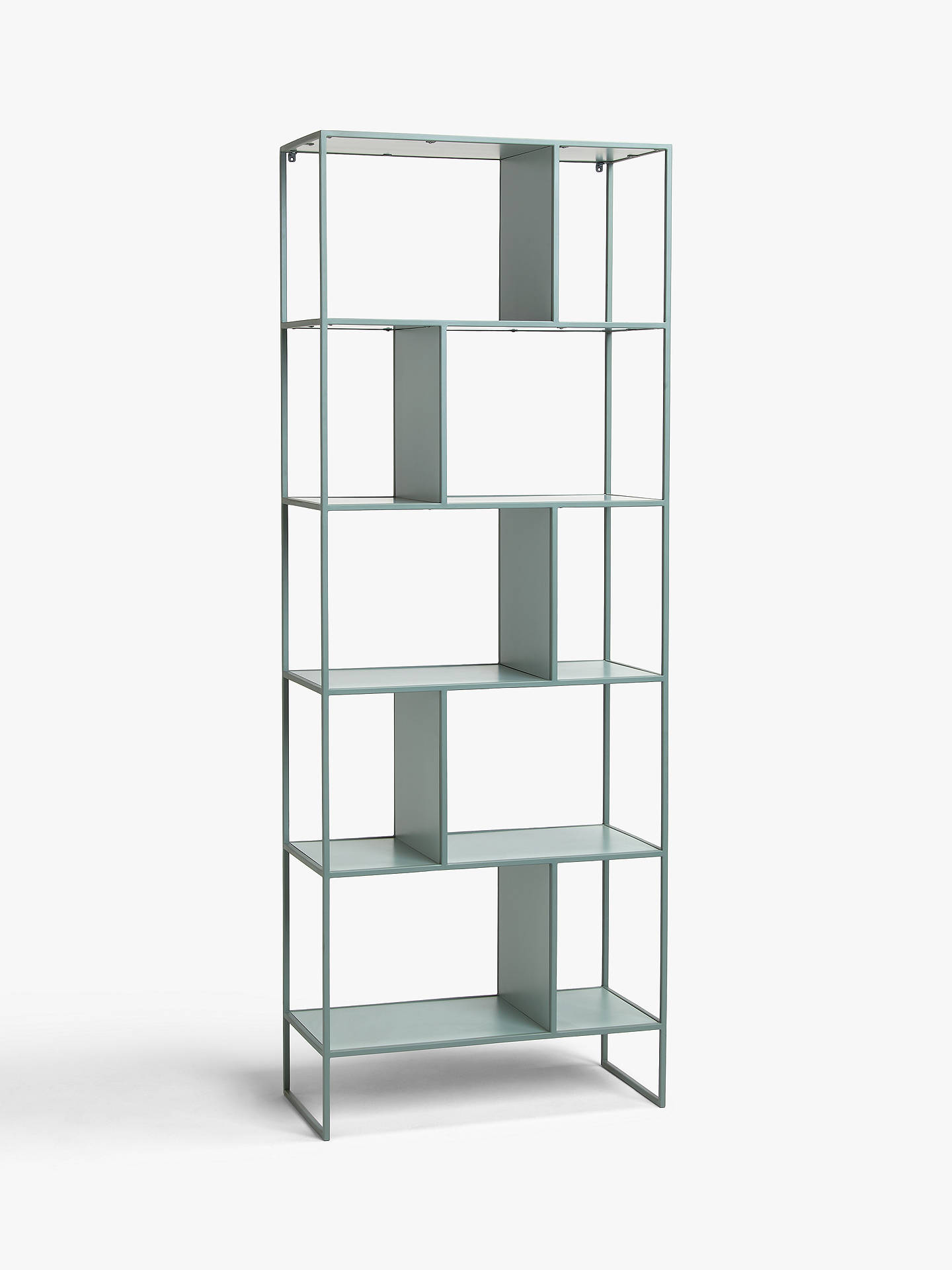 0b9f4c596ed6 Buy House by John Lewis Dice Tall Shelving Unit, Dusty Green Online at  johnlewis.