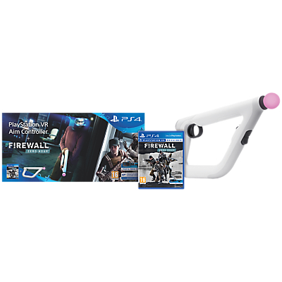 Image of Sony PlayStation VR Aim Controller and Firewall Zero Hour VR Game for PS4