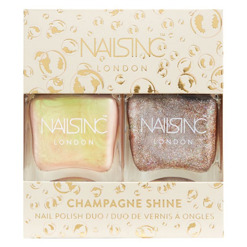 Nails Inc Nails Inc Champagne Shine Nail Polish Duo
