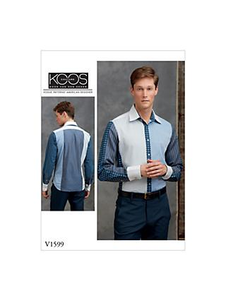 Vogue Men's Statement Shirt Sewing Pattern, 1599