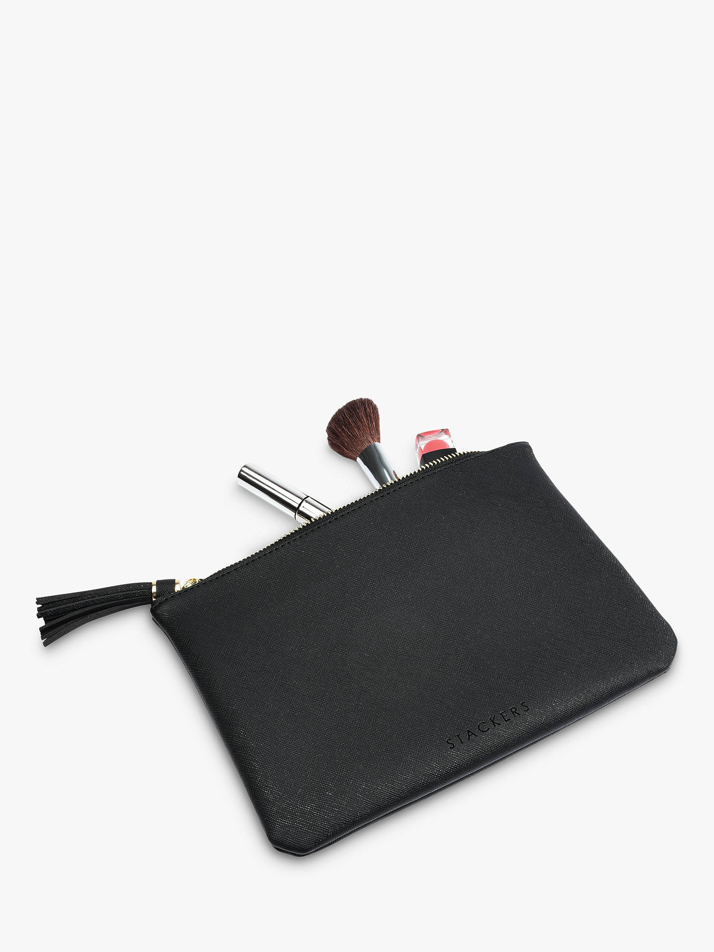 Buy Stackers Tassel Pouch, Black Online at johnlewis.com