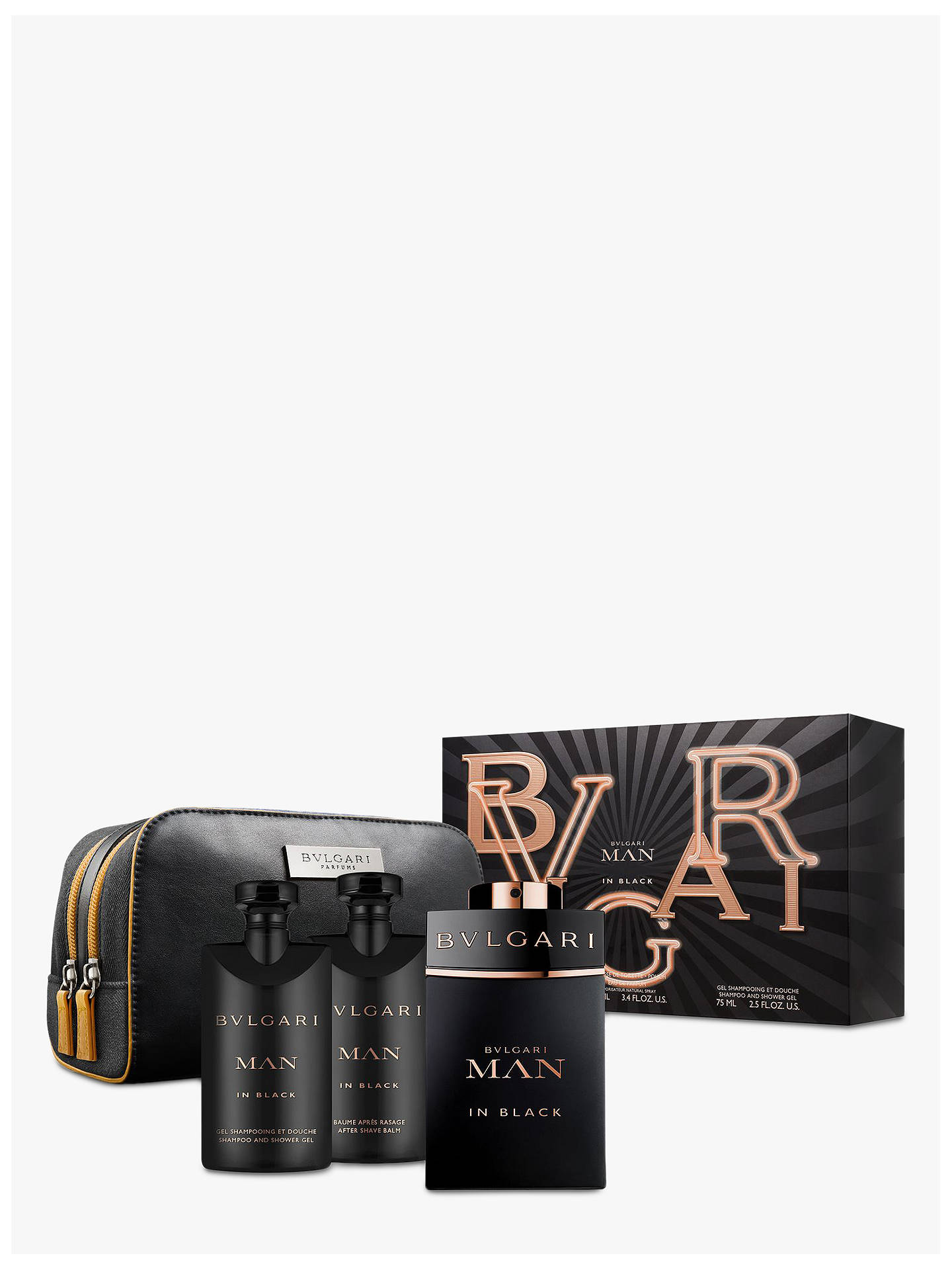 Buy BVLGARI Man in Black 100ml Eau de Parfum Gift Set Online at johnlewis.com