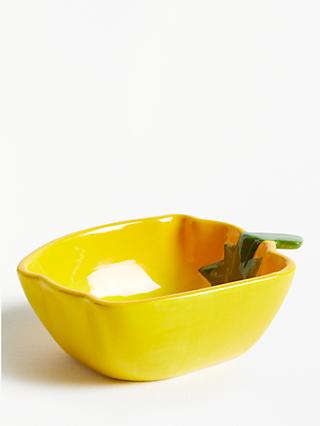 John Lewis & Partners Tuscany Pepper Serving Dish, L11cm, Yellow