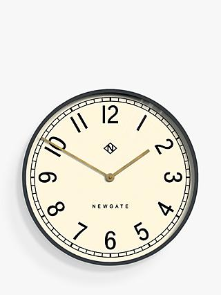 Newgate Large Wall Clock, Dia.60cm, Grey/Brass