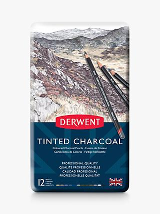 Derwent Tinted Charcoal Pencils Tin, Set of 12