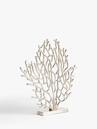 John Lewis & Partners Small Coral Sculpture, H43cm, Silver