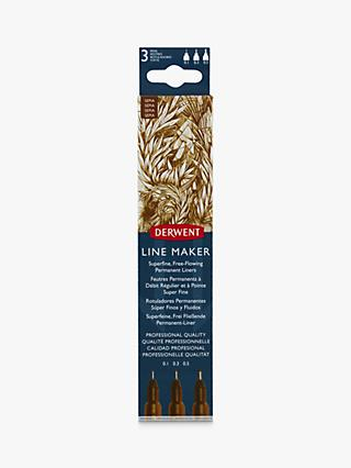 Derwent Line Maker Sepia, Pack of 3