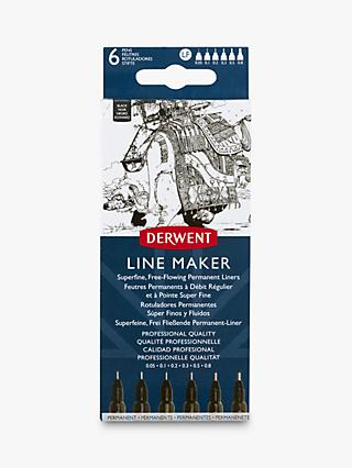 Derwent Line Maker Black, Pack of 6