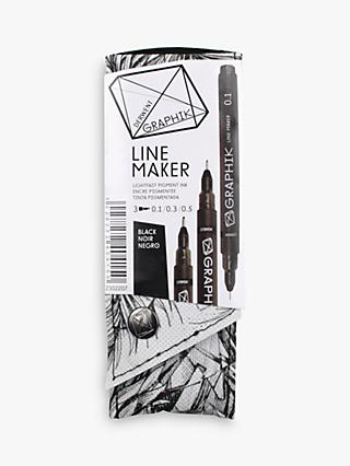 Derwent Line Maker Black, Set of 3