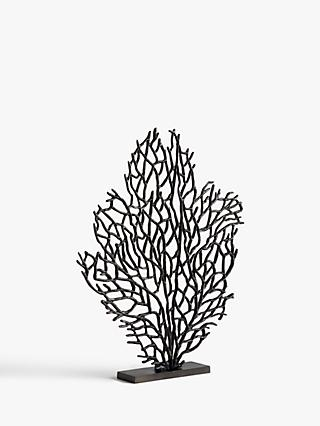 John Lewis & Partners Large Coral Sculpture, H68cm, Black