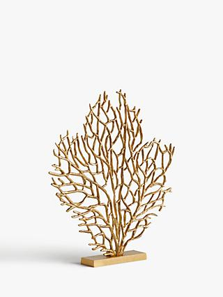 John Lewis & Partners Medium Coral Sculpture, H53cm, Gold