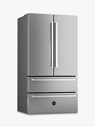 Bertazzoni REF90X Freestanding French Door Fridge Freezer, A+ Energy Rating, 91cm Wide, Stainless Steel