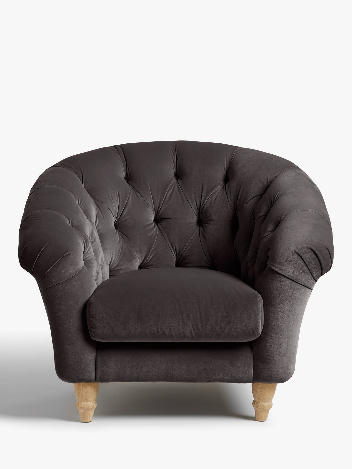 Buy Cupcake Armchair by Loaf at John Lewis, Clever Velvet Steel Online at johnlewis.com