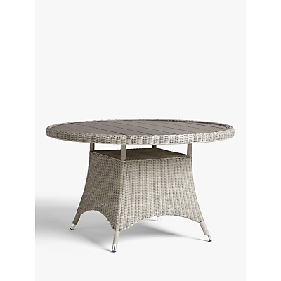 John Lewis & Partners Dante Wood-Effect Top 4 Seat Garden Dining Table
