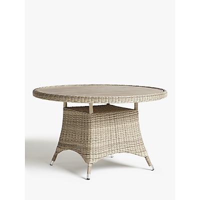John Lewis & Partners Dante Wood-Effect Top 4 Seat Garden Dining Table