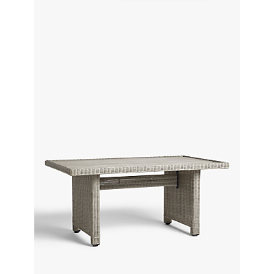 John Lewis & Partners Dante Wood-Effect Top Low Garden Dining Table