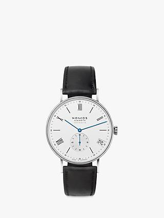 b36faddf189 NOMOS Glashütte 260 Unisex Ludwig Automatic Date Leather Strap Watch