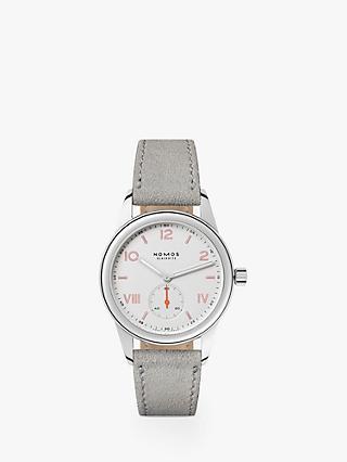 8e6d03f0abd NOMOS Glashütte 709 Unisex Club Leather Strap Watch