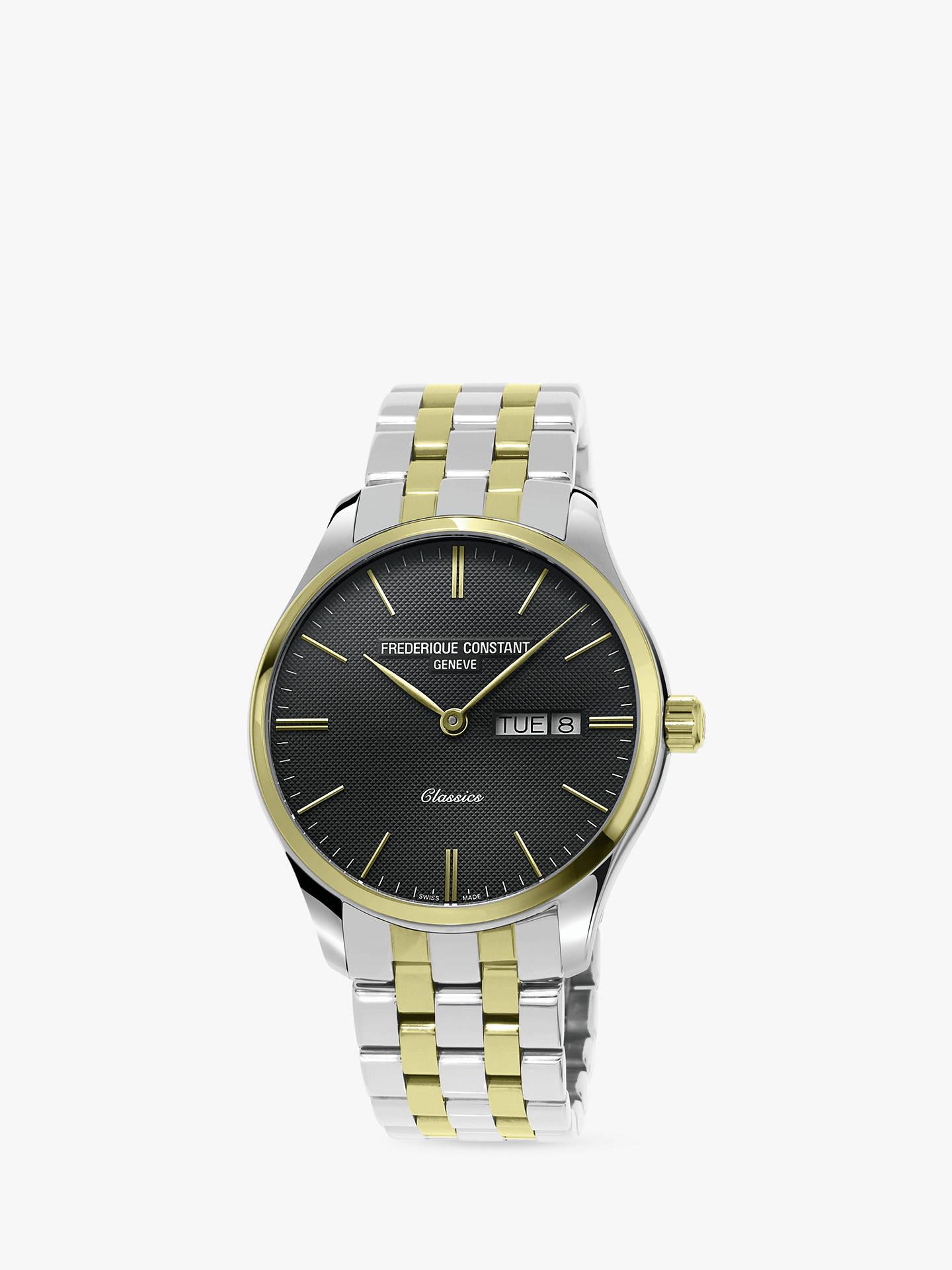 BuyFrédérique Constant FC-225GT5B3B Men s Classics Day Date Bracelet Strap  Watch f0c3d2a7139