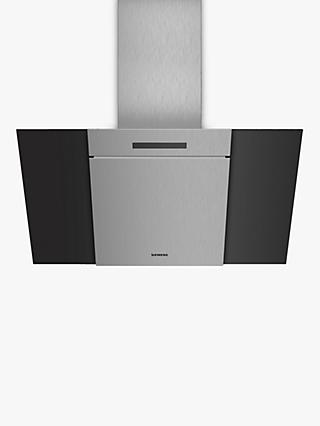 Siemens iQ300 LC87KBM60B Angled Design Chimney Cooker Hood, Black