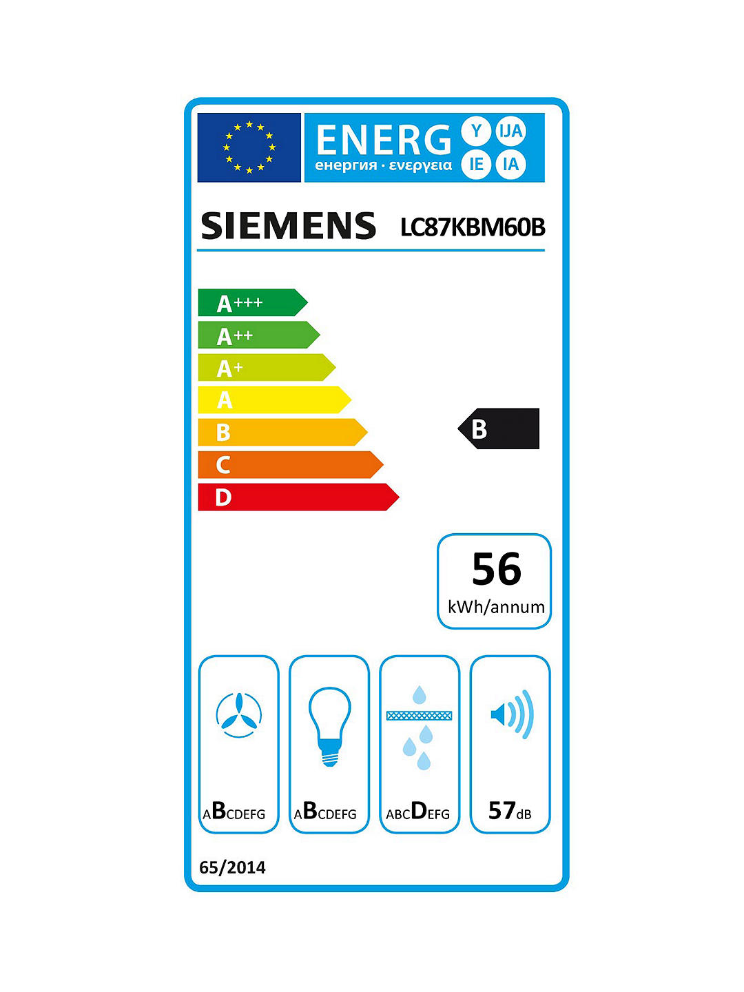 Buy Siemens iQ300 LC87KBM60B Angled Design Chimney Cooker Hood, Black Online at johnlewis.com